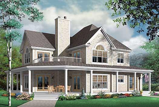 2 story home plan exterior