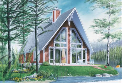 A frame home exterior view
