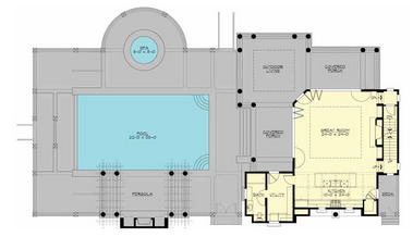 Example of a carriage home floor plan.