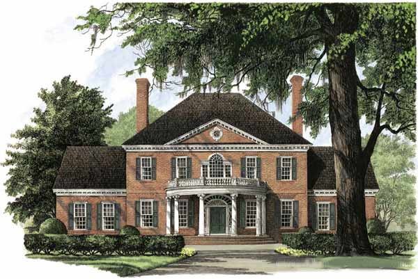 Colonial House Plans Monster House Plans