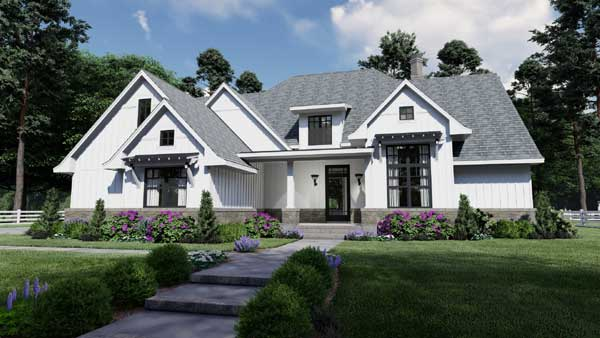 Modern Farmhouse Plans | Modern Farmhouse Open Floor Plans on elegant farmhouse plans, traditional farmhouse plans, modern farmhouse plans,