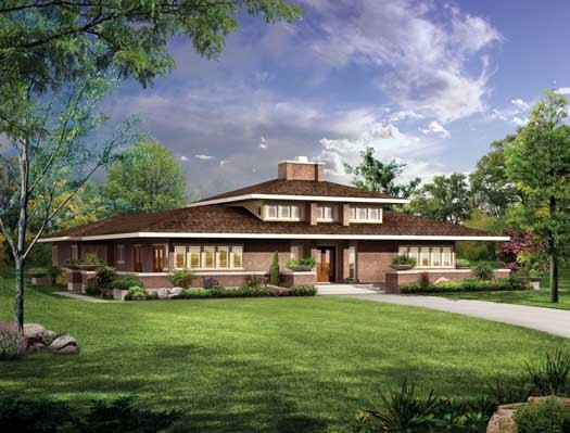 Exterior Prairie Home Design