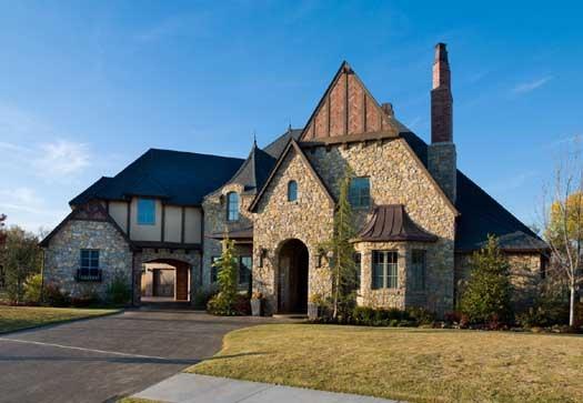 Tudor home exterior design