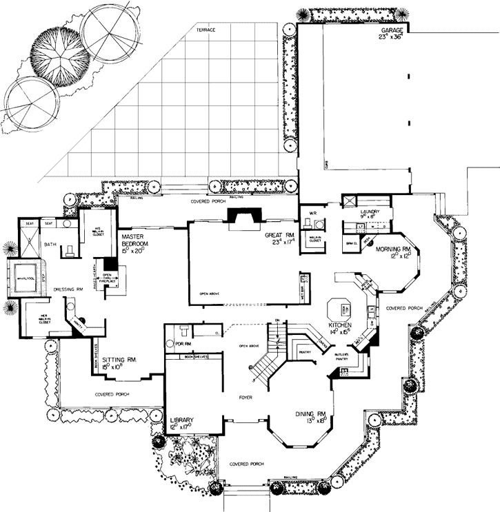 interior floor plan outline