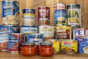Canned foods are an easy way to keep your pantry full of easy meal ingredients.