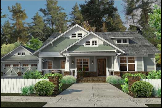 This modern California bungalow home boasts elegant efficiency with a nod to the classic historical design.