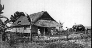 A Bengal Bungalow in 1865 belonging to a British military commander.